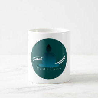"""Meditate"" Beautiful Buddha mug. Coffee Mug"
