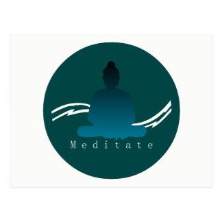 """""""Meditate"""" Beautiful Buddha postcard"""