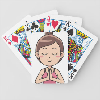 Meditate Bicycle Playing Cards
