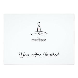 Meditate - Black Sanskrit style 13 Cm X 18 Cm Invitation Card