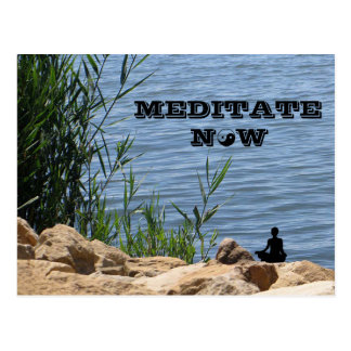 Meditate Now Postcard