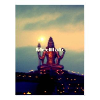 Meditate Postcard