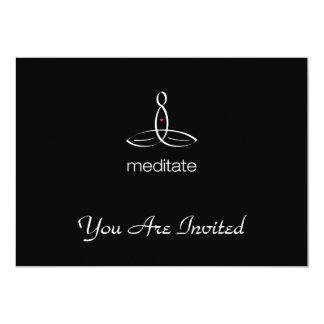 Meditate - White Regular style 13 Cm X 18 Cm Invitation Card