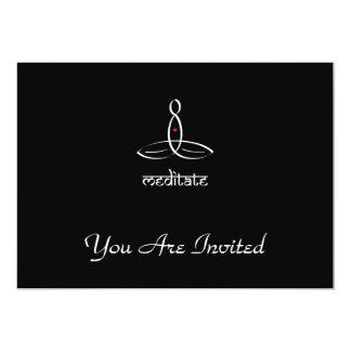Meditate - White Sanskrit style 13 Cm X 18 Cm Invitation Card