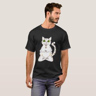 Meditated White Cat T-Shirt