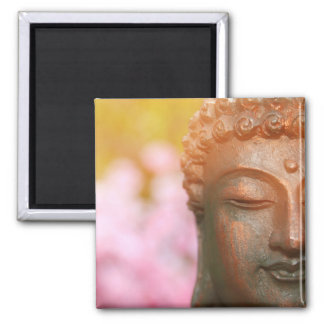 Meditating Buddha Magnet With Cherry Blossoms