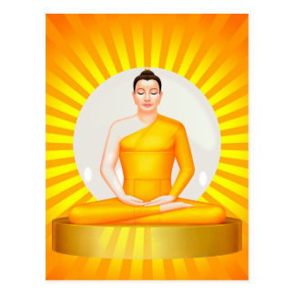 Meditating Buddha postcard