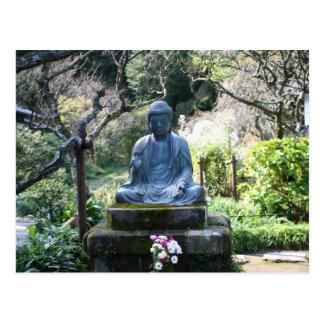 Meditating Buddha statue Postcard