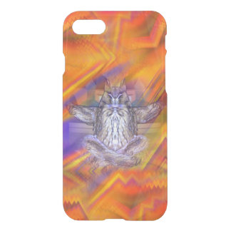 Meditating Owl Floating Rest Balance Art iPhone 7 Case