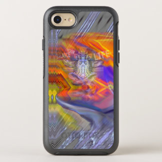 Meditating Owl Floating Rest Balance Art OtterBox Symmetry iPhone 7 Case