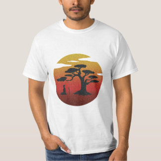 Meditating Samurai At The Sunset T-Shirt