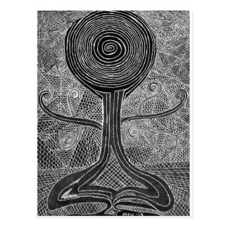 Meditating Tree Postcard