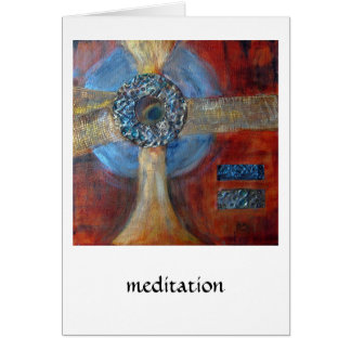 Meditation #1 mixed media greeting card