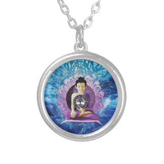 Meditation and Peace Tree of Life Round Pendant Necklace