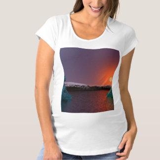 meditation and sun orange maternity T-Shirt