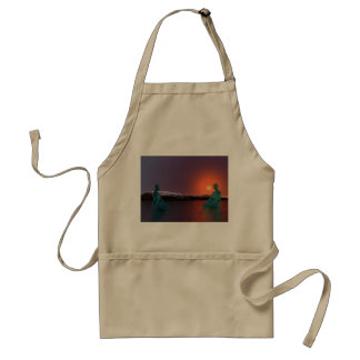 meditation and sun orange standard apron
