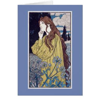 Meditation Art Nouveau Greeting Card