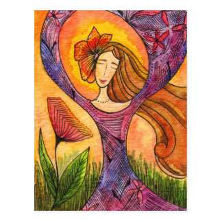 Meditation Card Postcard