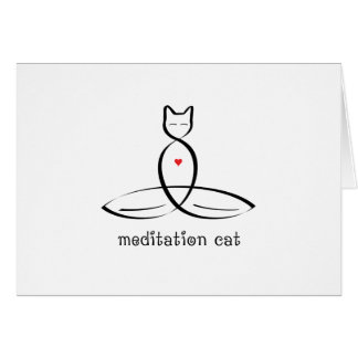 Meditation Cat - Fancy style text. Card