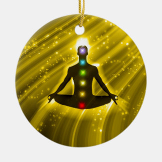 Meditation Chakras Ceramic Ornament