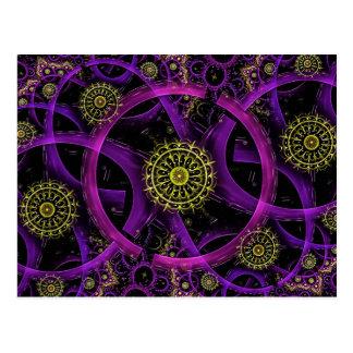 Meditation gold flower postcard