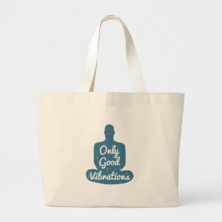 Meditation Human silhouette isolated on white Large Tote Bag