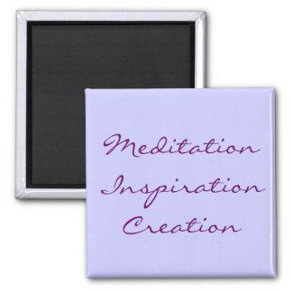 Meditation Inspiration Creation Square Magnet