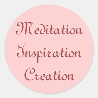 Meditation Inspiration Creation Stickers