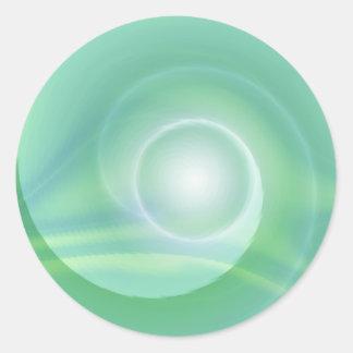 Meditation lightgreen created by Tutti Classic Round Sticker