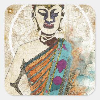 Meditation Square Sticker