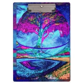 Meditation Tree of Life in Purple Clipboard