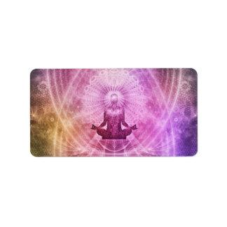 Meditation Yoga Faith Address Label