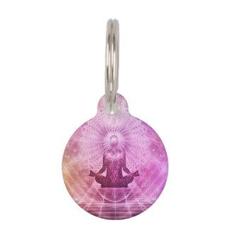 Meditation Yoga Faith Pet Name Tag