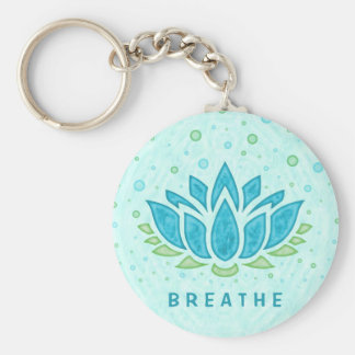 Meditation Yoga Lotus Flower Zen | Text Template Key Ring