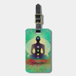 Meditation Yoga Luggage Tag