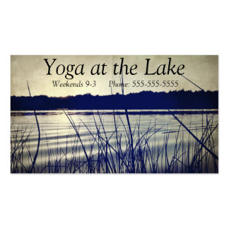 Meditation Yoga Relaxing Water Serene Lake Water Pack Of Standard Business Cards