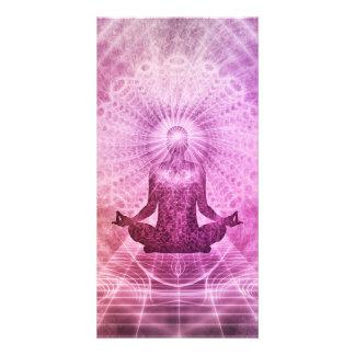 Meditation Yoga Style Photo Card Template