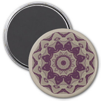 Meditative Flower Mandala 3 Inch Round Magnet