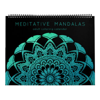 Meditative Mandalas Adult Coloring Book Pages Wall Calendars