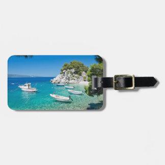 Mediterranean Beach Luggage Tag