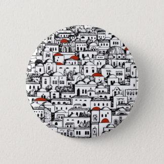 Mediterranean City 6 Cm Round Badge