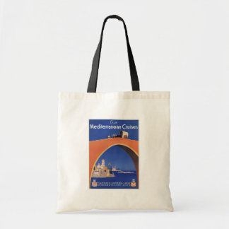 Mediterranean Cruises Ship Line Vintage Travel Canvas Bags