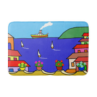 Mediterranean Holiday Bath Mat