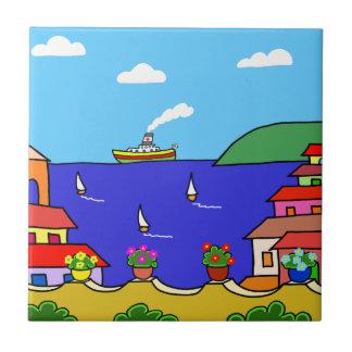 Mediterranean Holiday Ceramic Tile