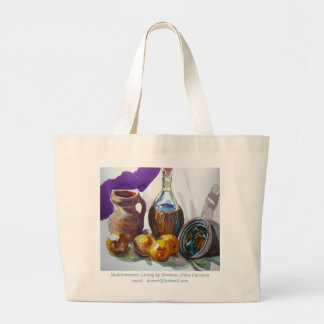 Mediterranean Living by Doranne Alden Caruana Canvas Bags