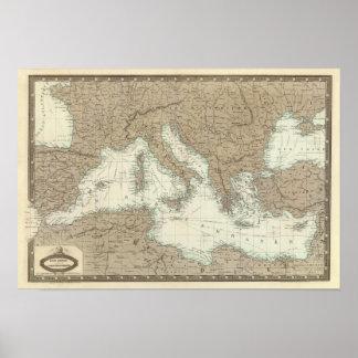 Mediterranean Region, Turkey, Greece Poster