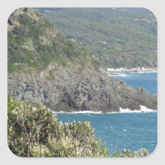 Mediterranean sea along Tuscan coastline Square Sticker