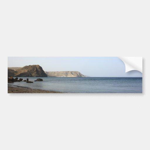Mediterranean Sea and beach the Blacks, photograph Bumper Stickers