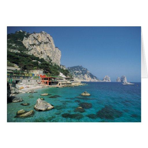 Mediterranean Sea Coast Beach of Italy Greeting Cards