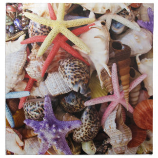 Mediterranean sea shells napkin